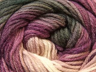 (1) 100 gram Magic Light Grape Greys Lilac White Self-Striping DK Yarn