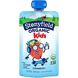 Stonyfield Organic Kids Strawberry Lowfat Yogurt 3.5 oz. Pouch
