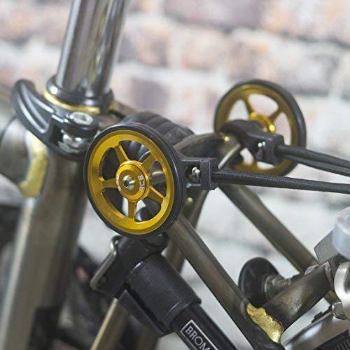 Super ligero fácil ruedas + tornillos de titanio para Brompton–en color dorado