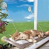 iFCOW - Hamaca para ventana de gato, para ventana de gato, para ahorrar espacio para gatos