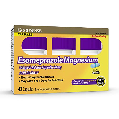 GoodSense Esomeprazole Magnesium Delayed Release Capsules 20 mg Blue 42 Count