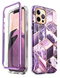 i-Blason Cosmo Series Case for iPhone 12 Pro Max 6.7 inch (2020 Release), Slim Full-Body Stylish Protective Case with Built-in Screen Protector, 6.7'' (Purple)
