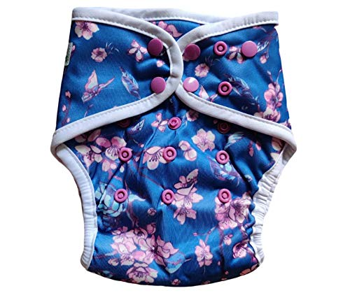 InfiniT AIO Overnight Cloth Diaper(One Size Fits 5-15 Kgs) (Yozakura)