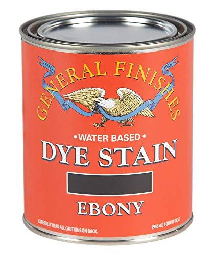 General Finishes Water Based Dye, 1 Quart, Ebony