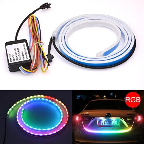 Katur - Bande LED de 120 cm RGB dynamique, étanche - Barre lumineuse de frein/signal d'avertissement/clignotant/feu arrière/coffre
