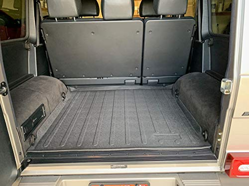 Rear Trunk Liner Tray Mat Pad for MERCEDES-BENZ G-CLASS 2002 - 2012 2013 2014 2015 2016 2017 2018 Floor Cargo Cover Protection Dirt Mud Snow All Weather Season Waterproof 3d Laser Measured Custom Fit