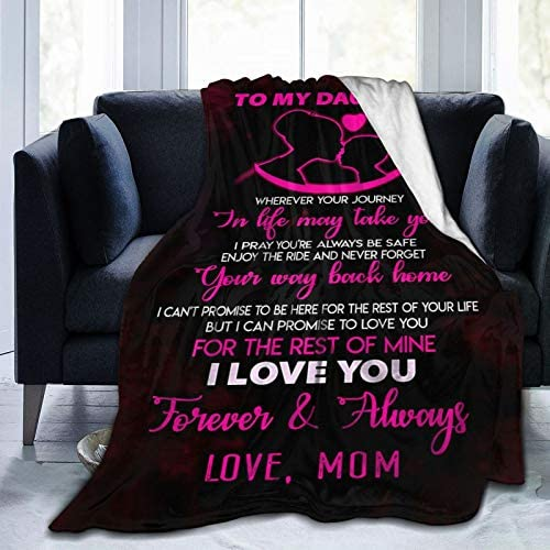 To My Daughter Blanket From Mom Custom Quilt Fleece Throw Blankets Comforters Tapestry Christmas product image