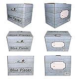 MamboCat Blue Baita 18-tlg. Teller-Set blau I robustes blaues Steingut-Geschirr für 6 Personen I je 6 flache Speiseteller - tiefe Suppenteller - kleine Kuchenteller I blaue Teller 18 Teile - 6