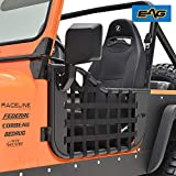 EAG Matrix Tubular Door with Side View Mirror Fit for 76-95 Wrangler CJ7 / YJ