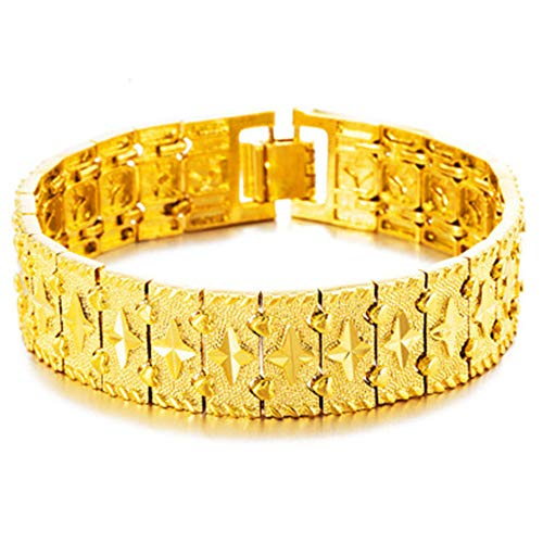 6,5 mm Reloj de pulsera para hombre chapado en oro 24 K