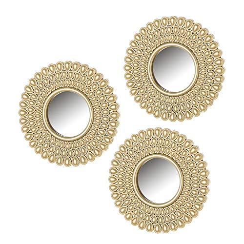 Set de Espejos arabescos exótico Dorado de Polipropileno de ø 25 cm - LOLAhome
