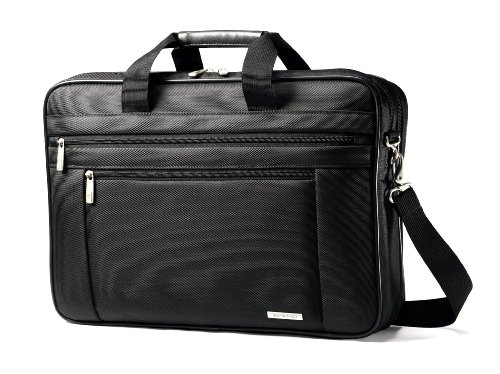Samsonite Classic Multi Gusset Toploader Briefcase, Black, Double 17-Inch