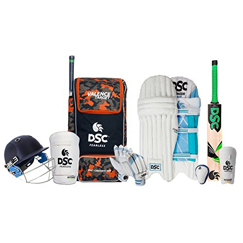 DSC Premium Complete Cricket Kit with Helmet, Kashmir Willow Bat, PVC Thigh Pad (Size 6)