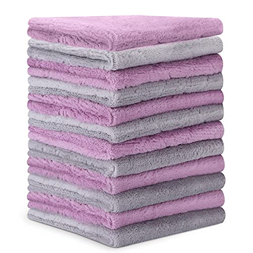 Microfiber Cleaning Cloth - 12 Pack Kitchen Towels - Double-Sided Microfiber Towel Lint Free Highly Absorbent Multi-Purpose Dust and Dirty Cleaning Supplies for Kitchen Car Cleaning - Dish Towels