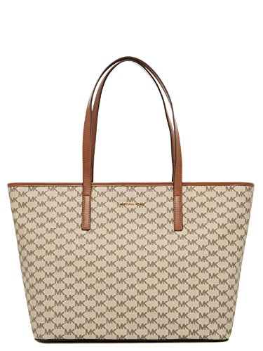 Michael Kors Women's Emry Large Top Zip Tote No Size (Nat/Lugg)