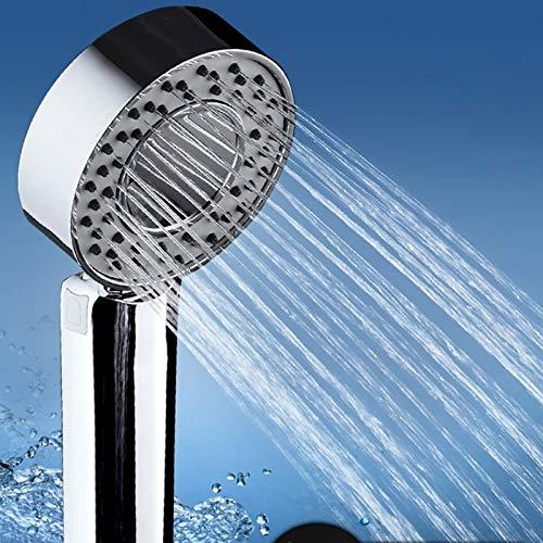 Alcachofa de ducha a presión con cabezal de ducha en dos lados que puede añadir alcachofa de ducha o gel de ducha