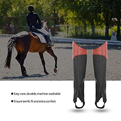 Horse Riding Gaiter Adults Horseback Riding Horsemanship Gaiters Half Chaps Boots Leg Protector Equestrian Adult Chaps Full Length Side Zipper with Snap Closure 1 Pair