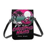 Bolso de la caja del teléfono celular de Crossbody de las noches de la Navidad, bolso de cuero de las ranuras para tarjetas de la cartera del teléfono del bolsillo