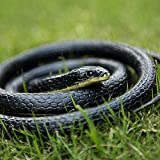 GIIOASA Bird Repellent Snake Novelty Toy Realistic Garden Rubber Snake Fake Snakes Fool's Day Halloween 50 Inch Long,A33-1