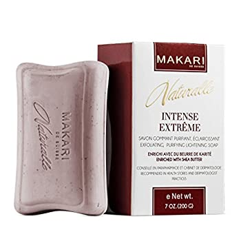Makari Naturalle Intense Extreme Skin Lightening Soap 7oz – Exfoliating Purifying & Whitening Bar Soap With Shea Butter & SPF 15– Anti-Aging Cleansing Treatment for Dark Spots Acne Scars & Wrinkles