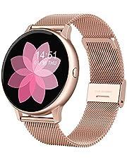 Smartwatch, 1,2-Inch Volledig Aanraakscherm, Vrouwelijk Bluetooth-Waterdicht Horloge Met Meerdere Sportmodi, Gezondheidscontrole, Compatibel Met Ios En Android,A