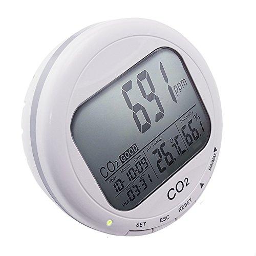 Kohlendioxid-Detektor Temperatur Feuchtigkeit RH Desktop Indoor Luftqualität Monitor CO2 Meter
