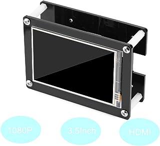 Tosuny 1080P IPS 60fps 3.5inch HDMI LCD Pantalla de Visualización con Caja Acrílico para Raspberry Pi