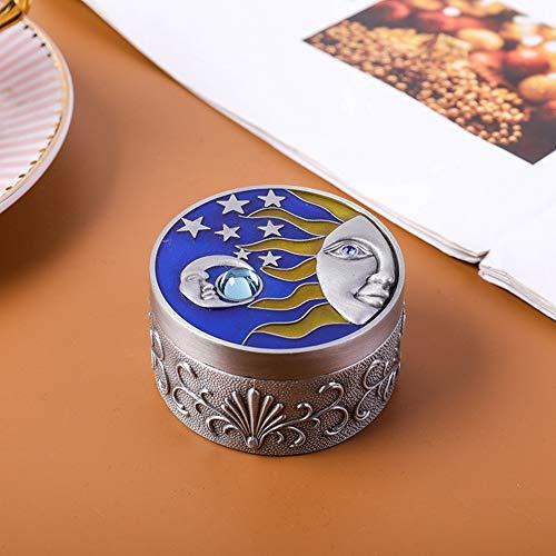 Ichiias Rust Proof Portable Durable Vintage Gift Box Storage Box, Decorating Necklace for Trinket(Tin Edge)