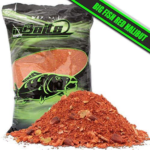 Angel-Berger Magic Baits Groundbait Grundfutter Angelfutter Verschiedene Sorten (Big Fish Red Halibut, 3Kg)