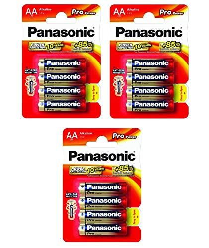 Panasonic Pro Power Gold LR6PPG Alkaline-Batterien AA, LR6 / MN1500 / AM3 / Stilo, 12 Stück