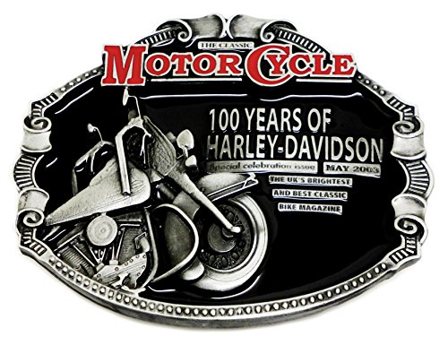 Harley Davidson Belt Buckle - 100 Years of Harley Design - Authentic Official License Dragon Designs Brand Product
