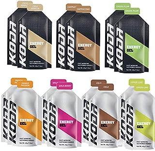 KODA コーダ 旧shotz(ショッツ) ENERGY GEL エナジージェル 全種類14個セット(マンゴー×2、ベリー×2、コーラ×2、レモン×2、コーラバニラ×2、プラム×2、カップチーノ×2) (オリジナル補給食説明書付)【sotoas...