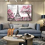 YWCVR Tableau Impression Toile Image Street View De Paris Peintures sur Toile sur Le...