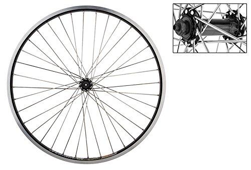 """WheelMaster 26"""" MTB Front Wheel - Weinmann Dm30 Rim, Alloy Hub, QR, Black"""