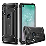 J&D Case Compatible for Motorola One Action Case, Heavy Duty [ArmorBox] [Dual Layer] Shock Resistant Hybrid Protective Rugged Case for Moto One Action Case - Black