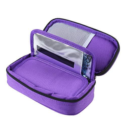 Bolsa isotérmica de insulina para diabéticos con 2 paquetes de hielo, para transportar medicamentos para diabéticos