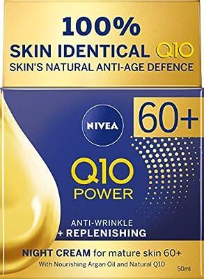 NIVEA Q10 Power 60 + Skin Anti-Wrinkle + Replenishing Night Cream (50 ml), Powerful Anti Ageing Cream, Night-Time Moisturiser for Women with Coenzyme Q10, Night Face Cream by Beiersdorf