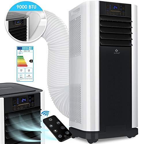 KESSER® - Klimaanlage Mobiles Klimagerät 4in1 kühlen, Luftentfeuchter, lüften, Ventilator - 9000 BTU/h (2.600 Watt) 2,6KW - Klima mit Montagematerial, Fernbedienung und Timer, Nachtmodus (EEK: A)