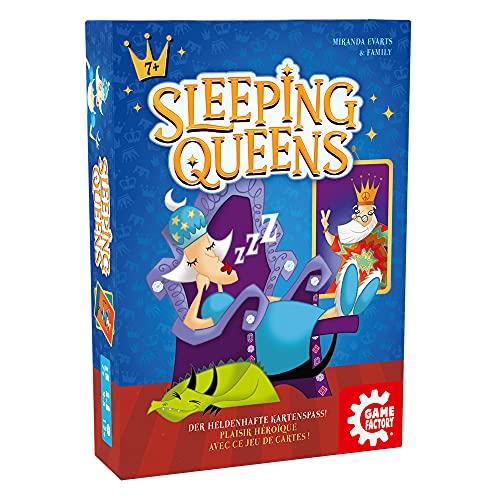 Game Factory 646168 Sleeping Queens, Familienspiel, Kartenspiel, ab 7 Jahren