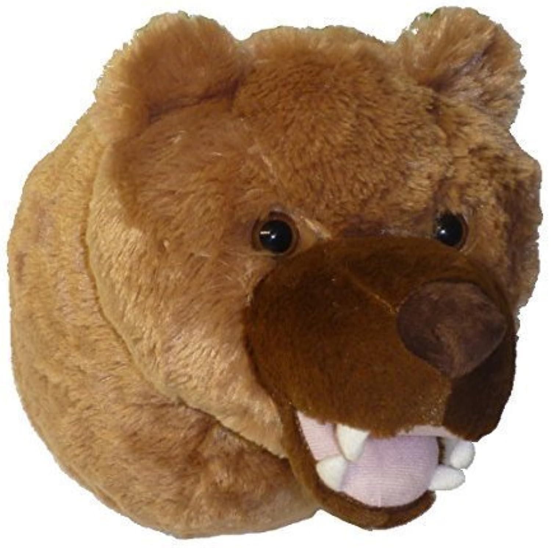 ADORE 12 Kodiak the Brown Grizzly Bear Plush Stuffed Animal Walltoy Wall Mount by Adore Plush Company