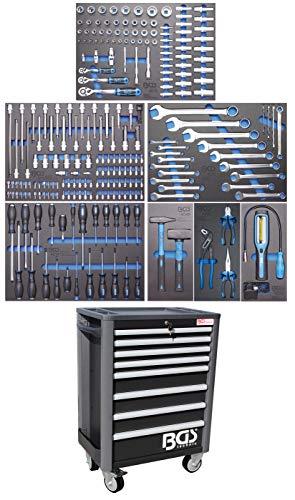 BGS 4113 | Werkstattwagen Profi Standard | 8 Schubladen | mit 234 Werkzeugen | gefüllt | abschließbar