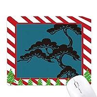 塗装は日本の文化・ブルー ゴムクリスマスキャンディマウスパッド