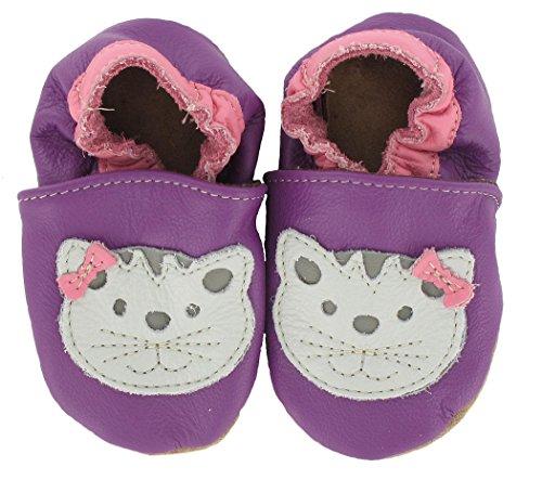 Krabbelschuhe Katze von baBice, Größe Schuhe:16/17 (0-6 Mon)