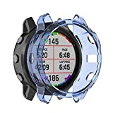 zhangxia Funda de reloj para Garmin Fenix 6S/6S Pro Smart Watch Half Coverage TPU Funda protectora Accesorios
