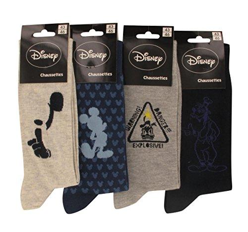 Dis - Chaussettes Homme Disney Lot de 4