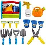 deAO 13 Outils de Jardin pour Enfant Kit Outils de Jardinage pour Enfants