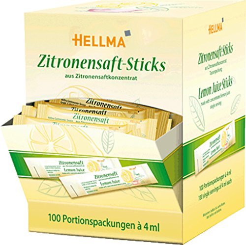 Hellma Zitronensaft - Sticks100X4G, 1er Pack (1 x 400 ml)