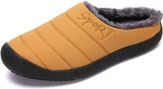 Quick Winter Slippers For Men Women Fabric Vamp Antislip Indoor Base Slip On Cartoon Shoes Men's Fashion (Color : Yellow, Size : 42 EU)
