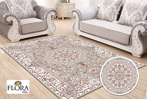 Flora Samarkand Collection Teppich Polypropylen Heatset walnuß | Größe 80cm x 150cm