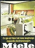 Catalogue Miele, de machine à laver, de sèche-linge, de Repasseuse ...